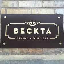BecktaDiningAndWineNewSign
