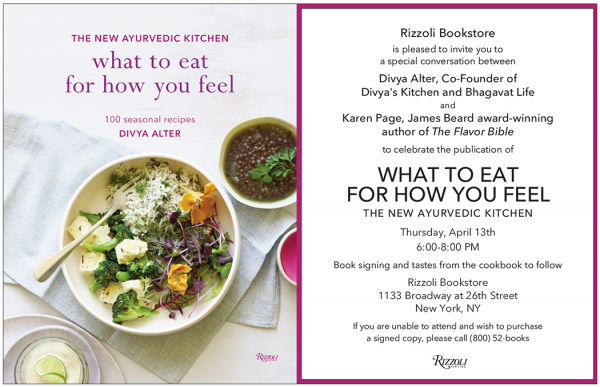 Join karen page and chef divya alter author of what to eat for how join karen page and chef divya alter author of what to eat for how you feel at rizzoli april 13th in nyc forumfinder Image collections